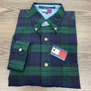 Tommy Hilfiger NWT Blackwatch Tartan Plaid Shirt M